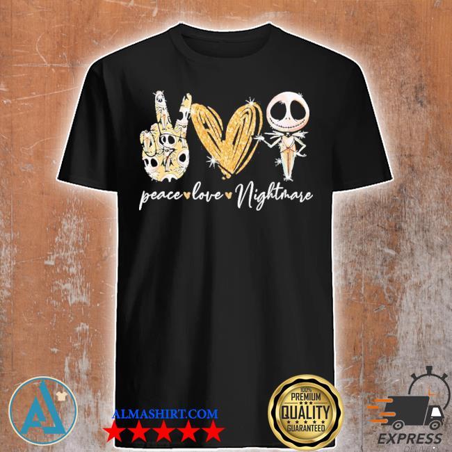 Peace love nightmare jack skellington diamond shirt