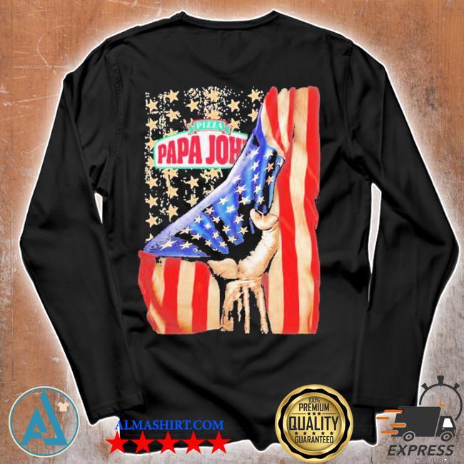 Pizza papa john american flag independence s Unisex longsleeve