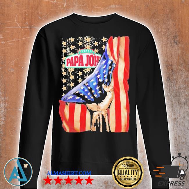 Pizza papa john american flag independence s Unisex sweatshirt