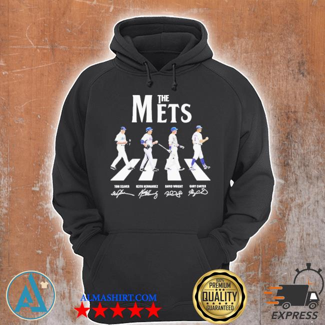 The new york mets baseball abbey road signatures s Unisex Hoodie