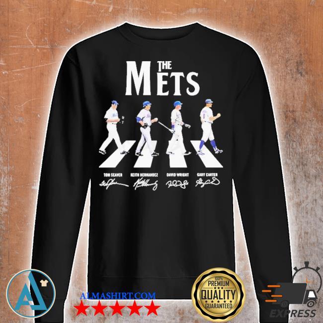 The new york mets baseball abbey road signatures s Unisex sweatshirt