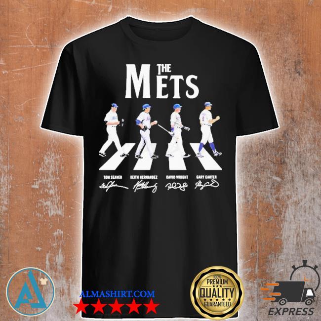 The new york mets baseball abbey road signatures shirt