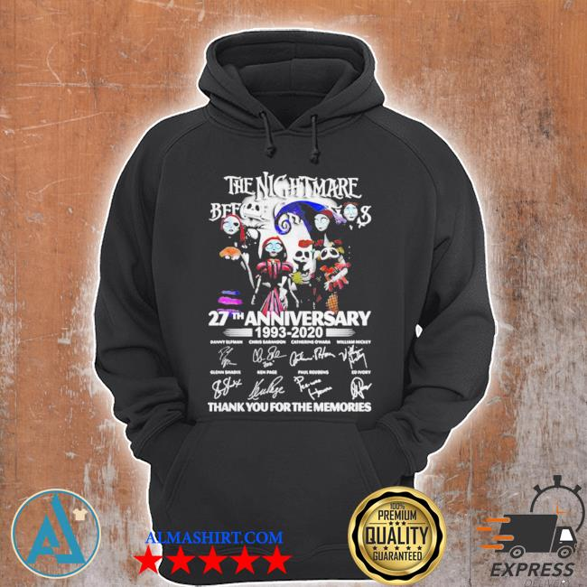The nightmare before christmas 27th anniversary 1993 2020 thank you for the memories s Unisex Hoodie