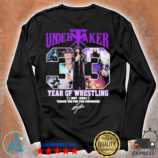 Undertaker 33 years of operation 1987 2020 thank you for the memories signature s Unisex longsleeve