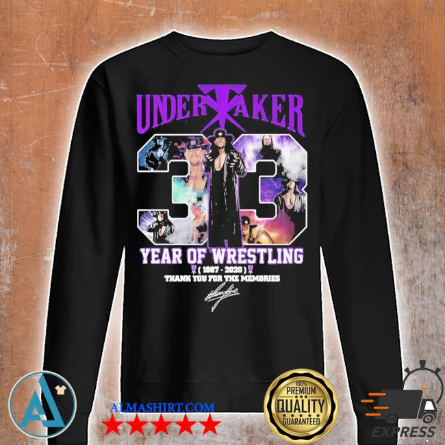 Undertaker 33 years of operation 1987 2020 thank you for the memories signature s Unisex sweatshirt