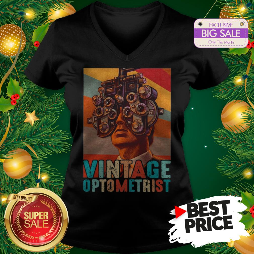 Vintage Optometrist Eye Ophthalmologist V-neck