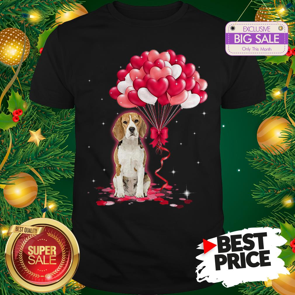 Wonderful Beagle Dog Love Balloons Heart Shirt