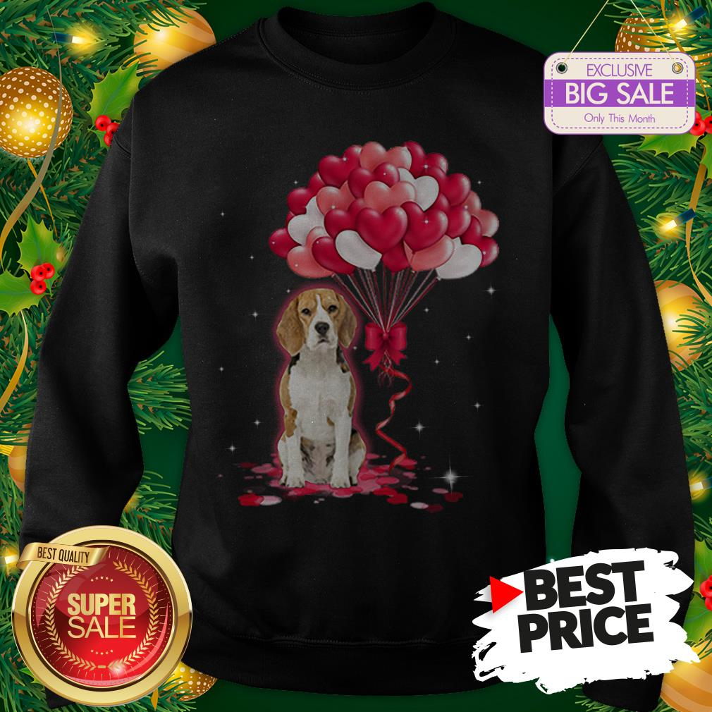 Wonderful Beagle Dog Love Balloons Heart Sweatshirt
