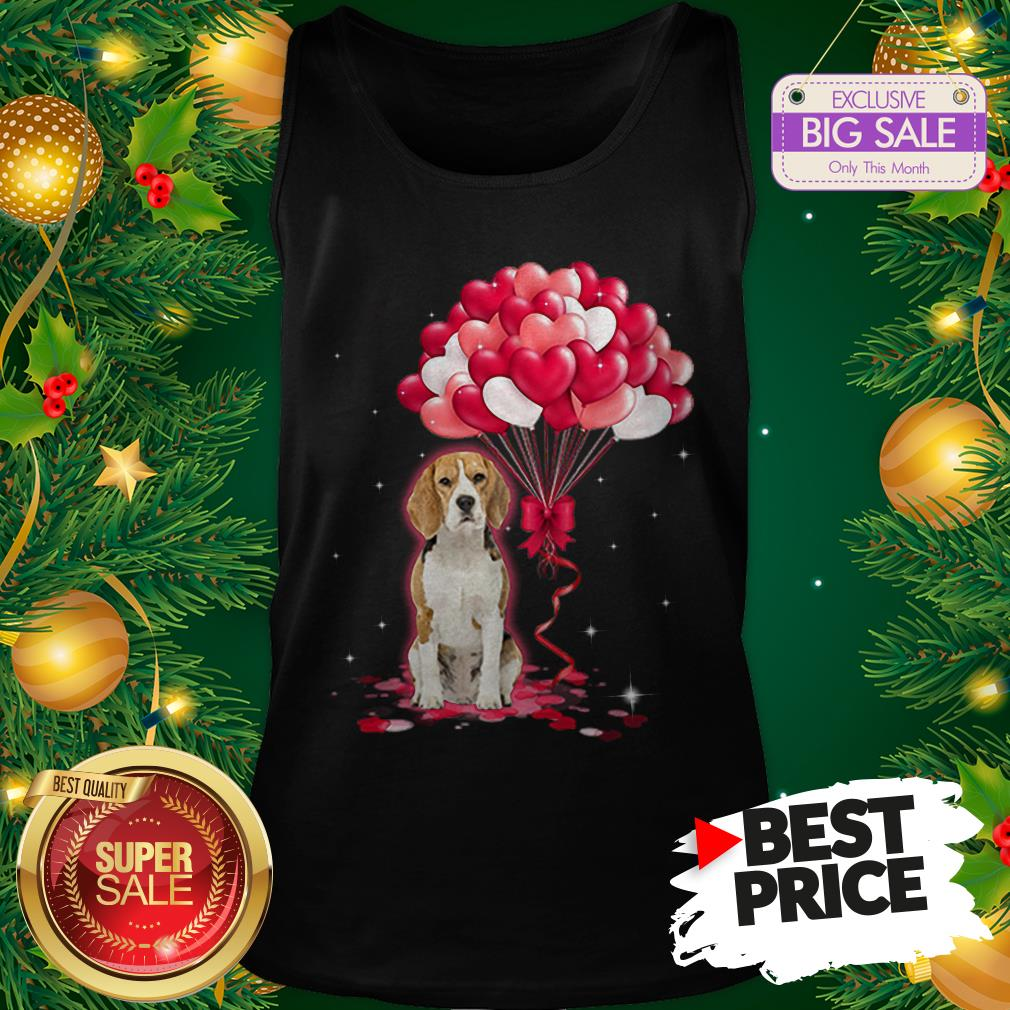 Wonderful Beagle Dog Love Balloons Heart Tank Top