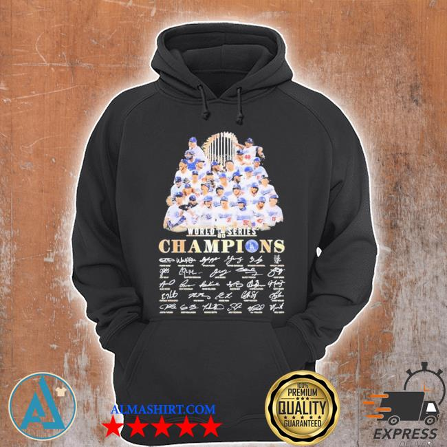 All Los angeles dodgers team member player world 2020 series champions signatures s Unisex Hoodie