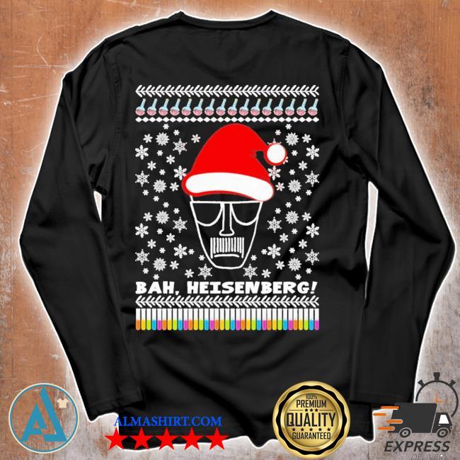 Bah heisenberg humbug walter ugly christmas s Unisex longsleeve