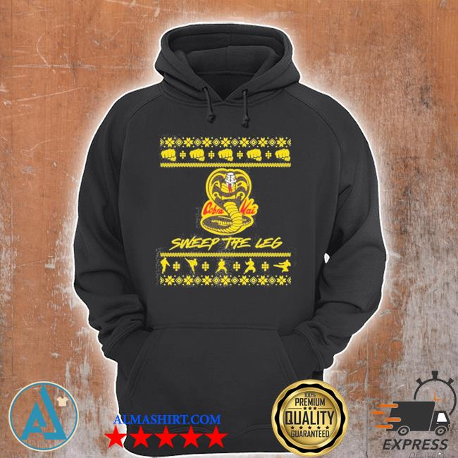 Cobra kai sweep the leg ugly christmas sweater Unisex Hoodie