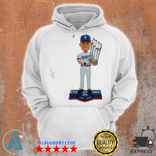 Corey Seager Los angeles dodgers 2020 world series champions s Unisex Hoodie