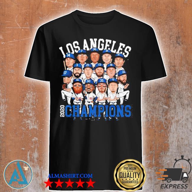 La dodgers All team member 2020 world series champions los angeles dodgers chibi shirt