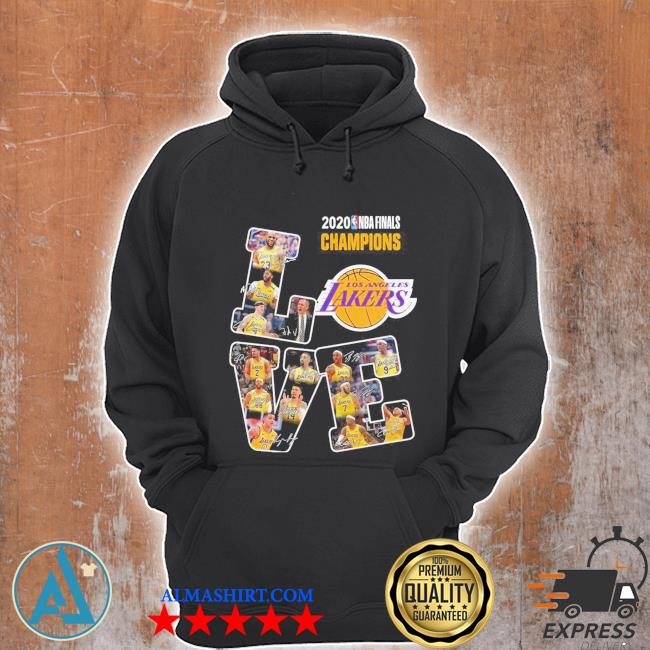 Love los angeles lakers 2020 nba finals champions signatures s Unisex Hoodie