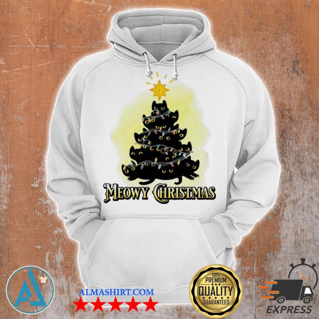 Meowy Christmas Cats tree ugly christmas sweater Unisex Hoodie