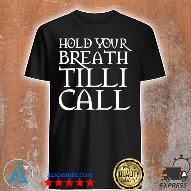 Nightmare on film street merch hold your breath till I call shirt