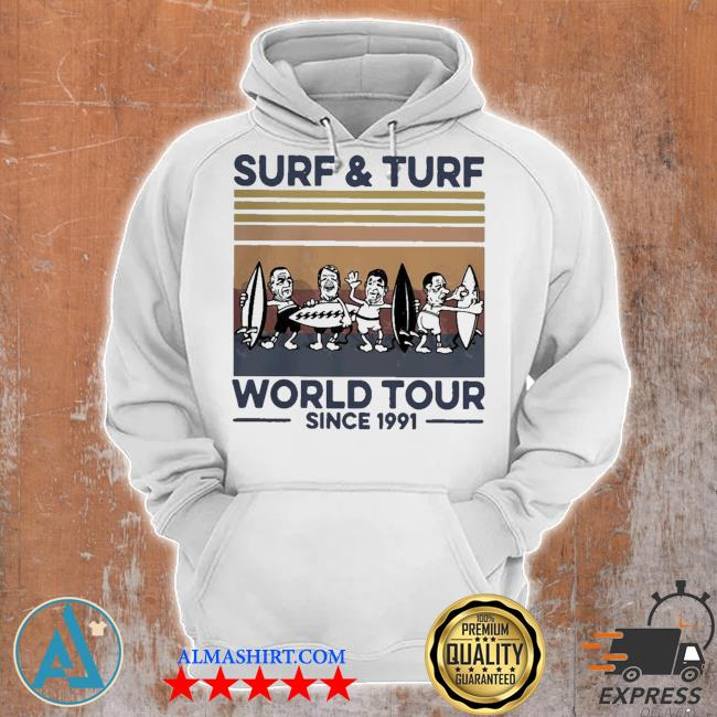 Surf and turf world tour since 1991 vintage retro s Unisex Hoodie