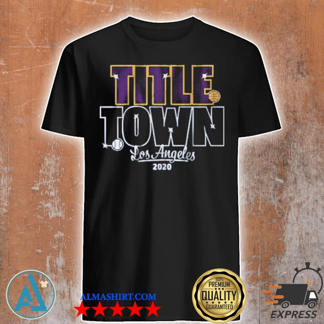 Title town los angeles baseball shirt