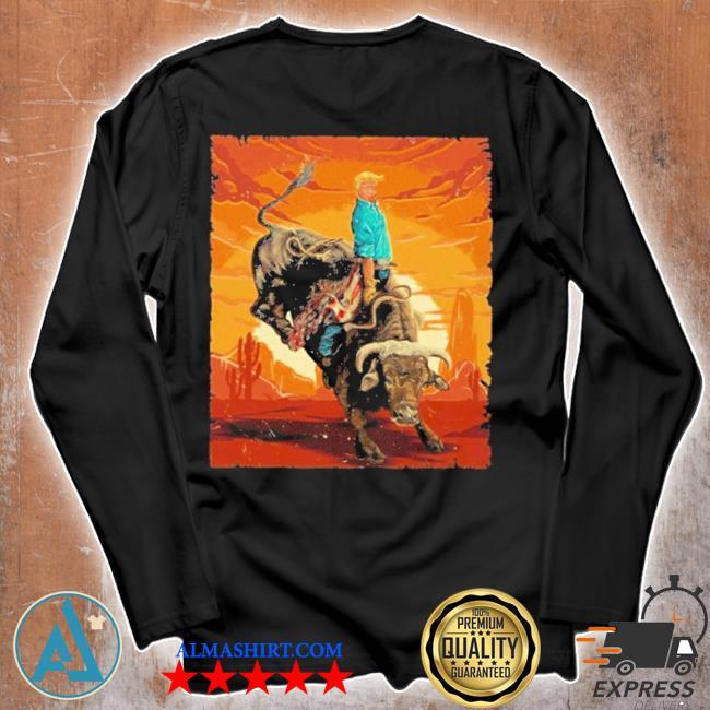 Trump rodeo bull rider american flag 2020 s Unisex longsleeve