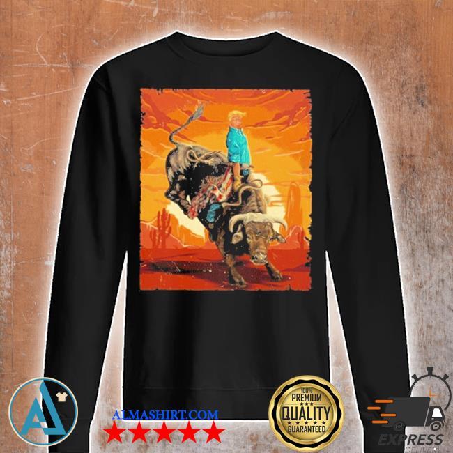 Trump rodeo bull rider american flag 2020 s Unisex sweatshirt