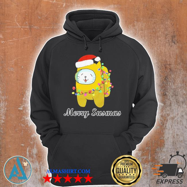 Among us cat christmas sweater Unisex Hoodie