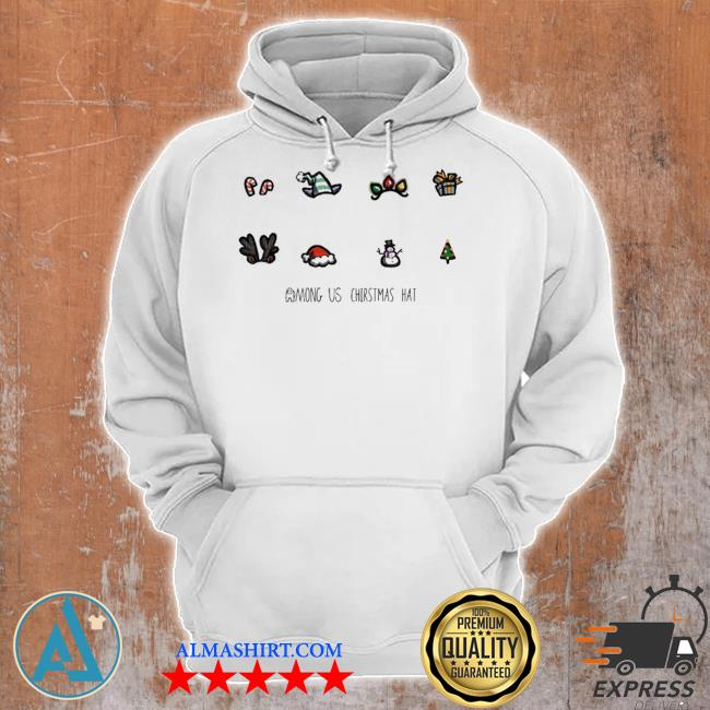 Among us HAt christmas sweater Unisex Hoodie