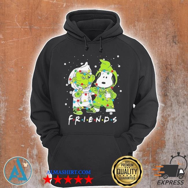 Baby grinch and snoopy friends merry Christmas light sweater Unisex Hoodie