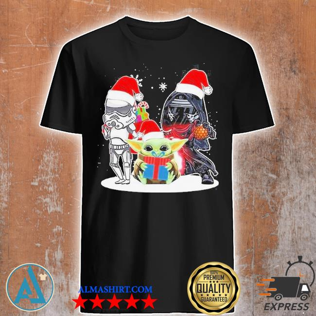 Baby yoda and darth vader stormtrooper merry Christmas sweater
