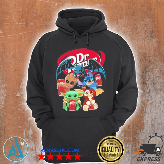 Baby yoda baby groot and toothless stitch gizmo hug dr pepper s Unisex Hoodie