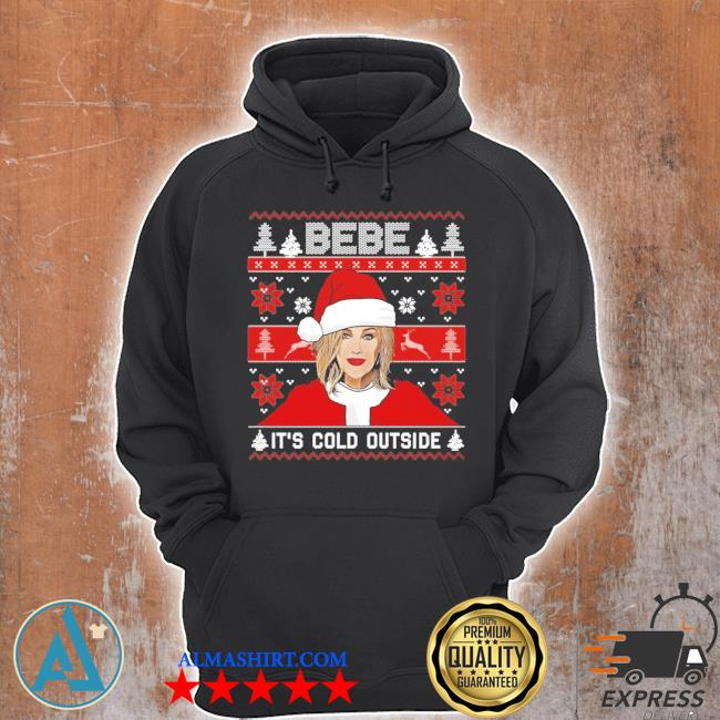 Bebe it's cold outside ugly christmas sweater Unisex Hoodie