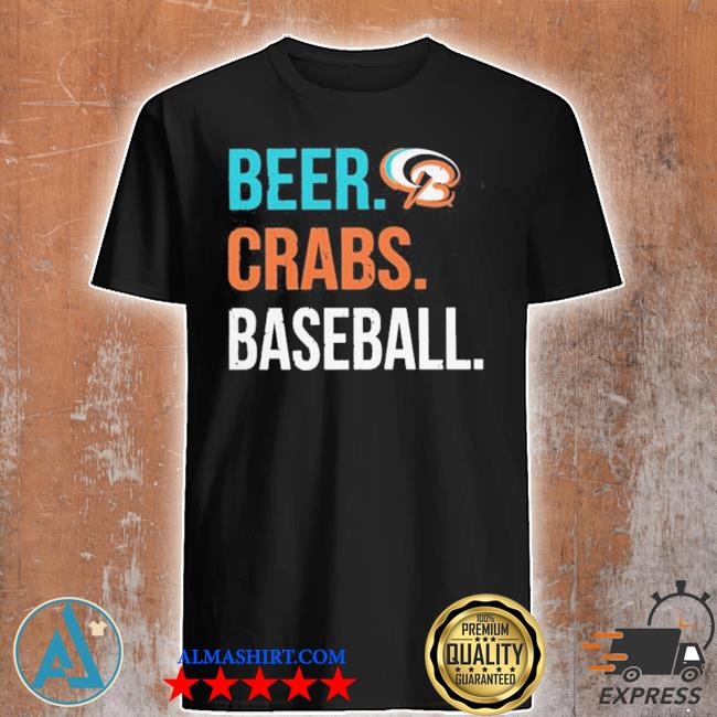 Beer crabs baseball shirt
