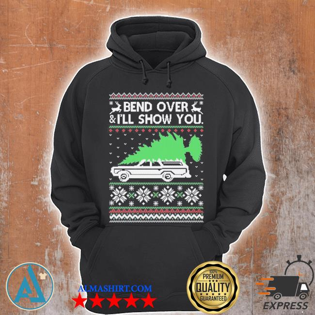Bend it over ugly Christmas sweater Unisex Hoodie