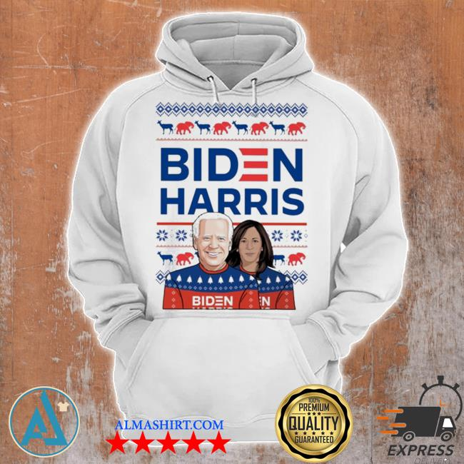 Biden harris ugly christmas sweater Unisex Hoodie