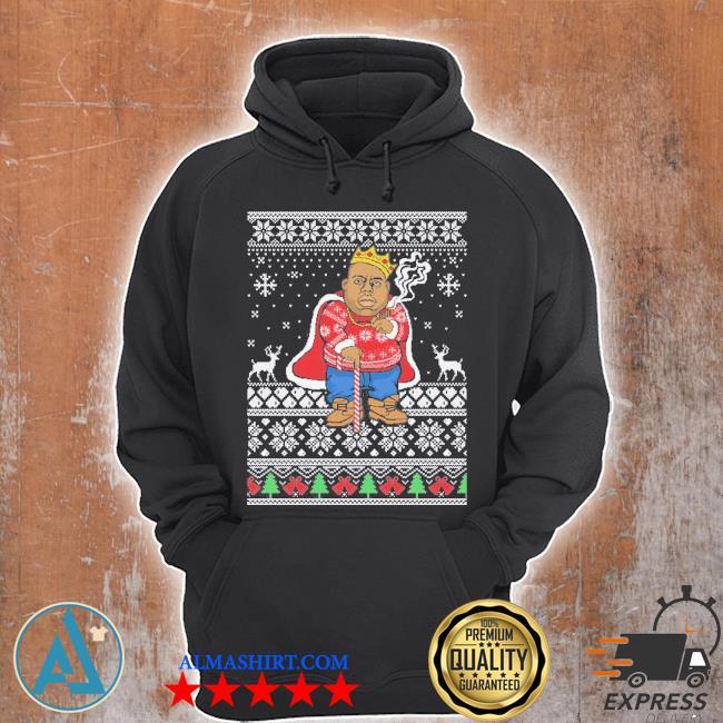 Biggie ugly Christmas sweater Unisex Hoodie