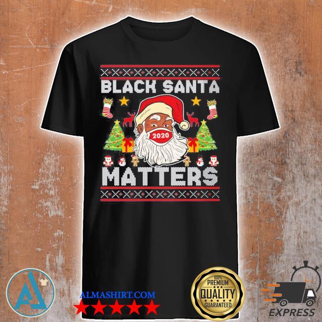 Black santa matters Christmas ugly sweater