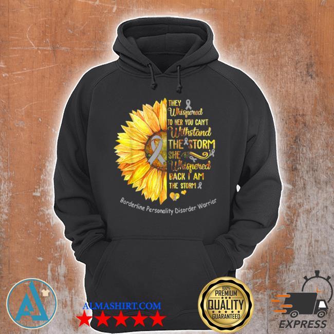 Borderline personality disorder warrior breast cancer sunflower s Unisex Hoodie