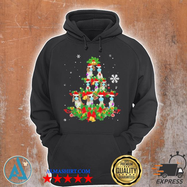 Cavalier king charles spaniel christmas tree ugly christmas sweater Unisex Hoodie