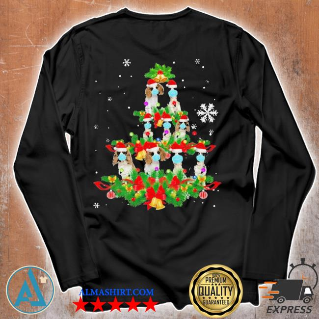 Cavalier king charles spaniel christmas tree ugly christmas sweater Unisex longsleeve