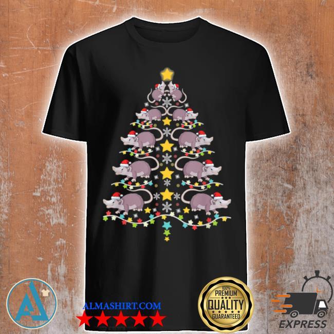 Christmas opossums tree Christmas tree lights shirt