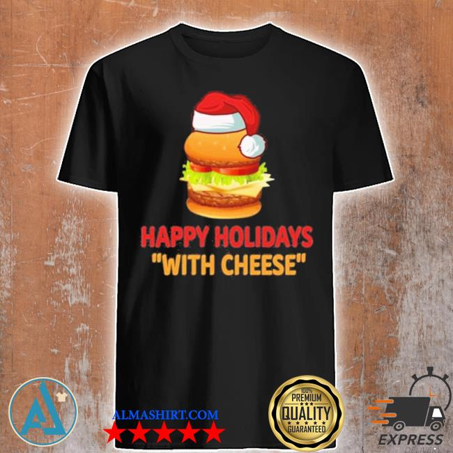 Hamburger happy holidays with cheese christmas sweater
