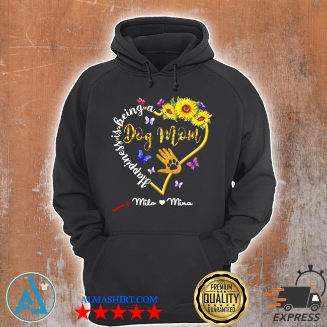 Happiness is being a dog mom sunflower s Unisex Hoodie