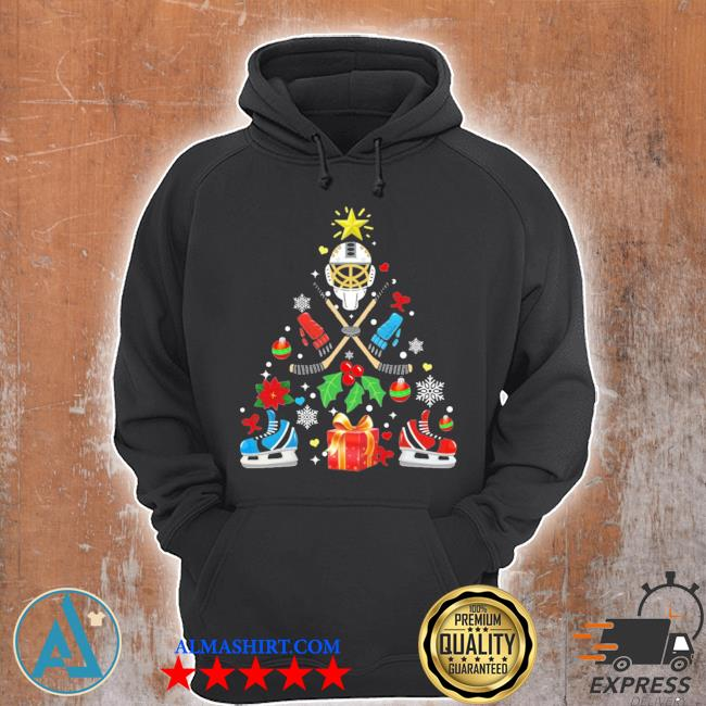 Hockey christmas tree ugly christmas sweater Unisex Hoodie