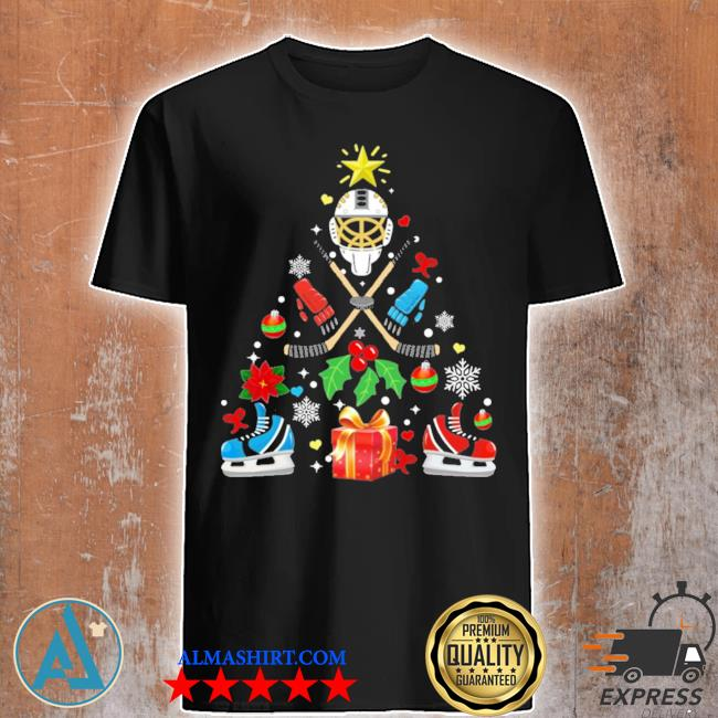 Hockey christmas tree ugly christmas sweater