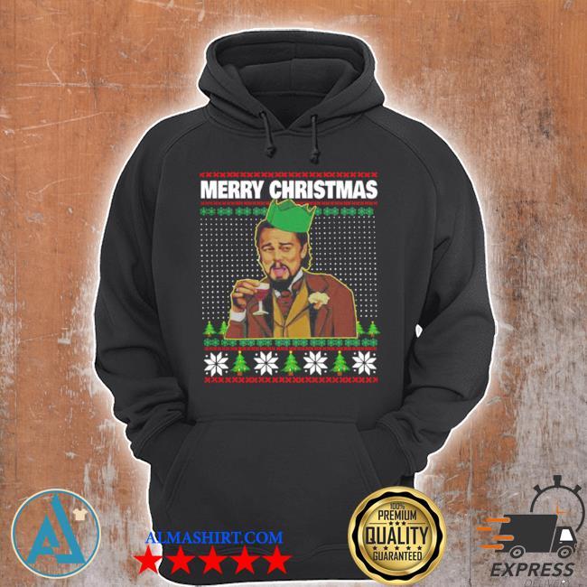 Leo laughing dank meme merry Christmas ugly sweater Unisex Hoodie