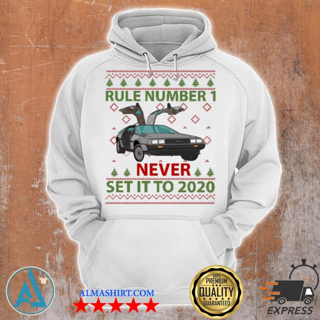 Marty rule number 1 never set it to 2020 christmas sweater Unisex Hoodie