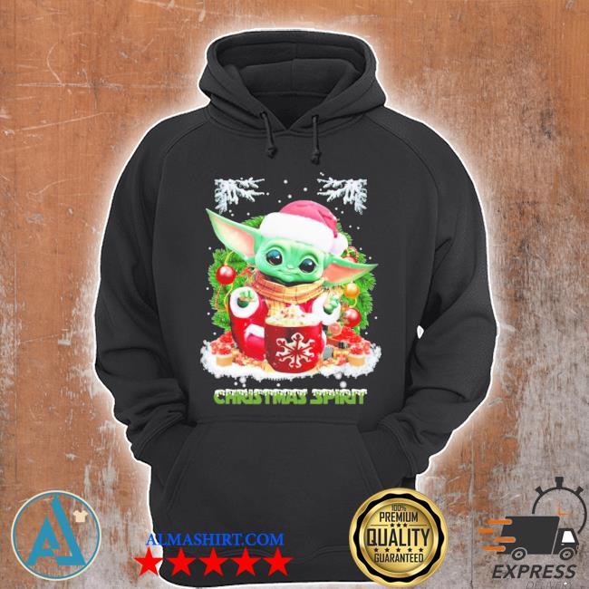 Merry christmas baby yoda spirit sweater Unisex Hoodie
