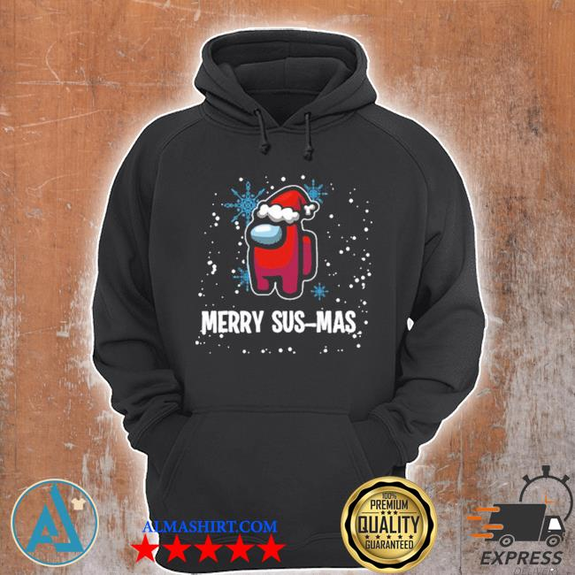 Merry susmas among us christmas ugly sweater Unisex Hoodie
