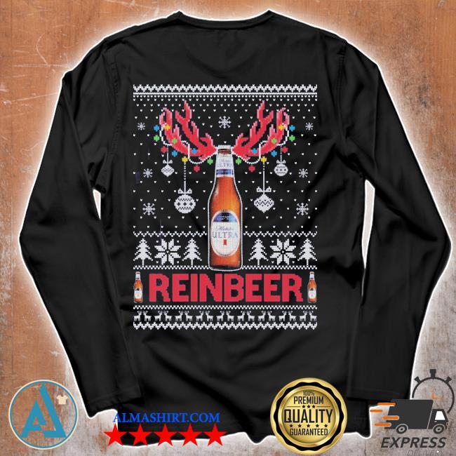 Michelob ultra ugly christmas sweater Unisex longsleeve