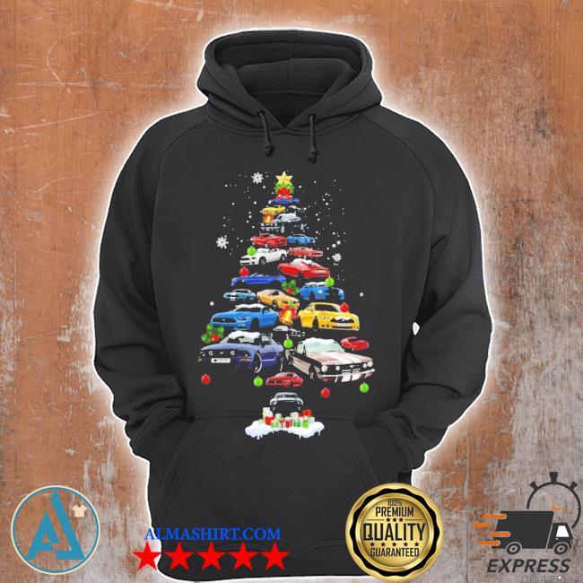 Mustang car Christmas tree sweater Unisex Hoodie